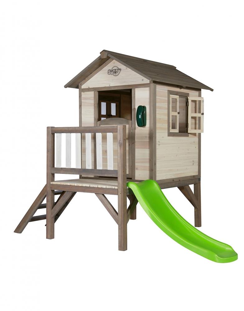 Casuta din lemn pentru copii Lodge XL grialb