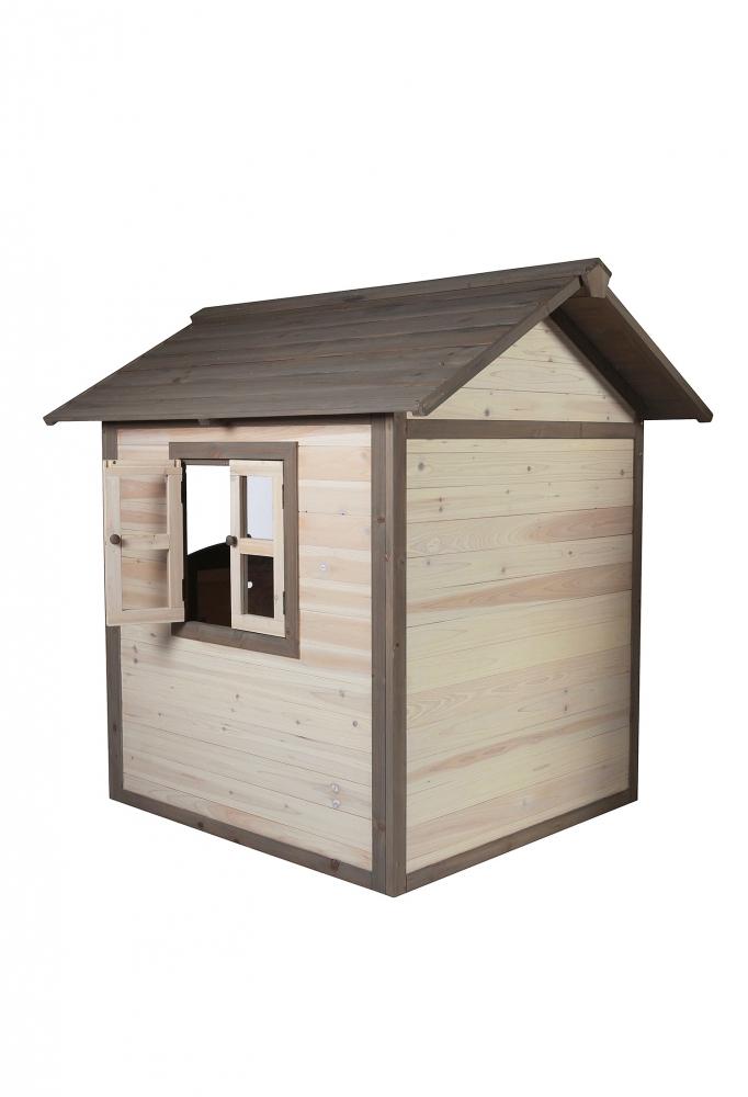 Casuta din lemn pentru copii Lodge grialb