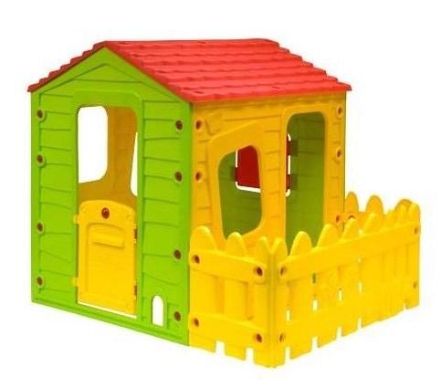 Casuta Joaca Copii Garden House Cu Terasa Si Gard