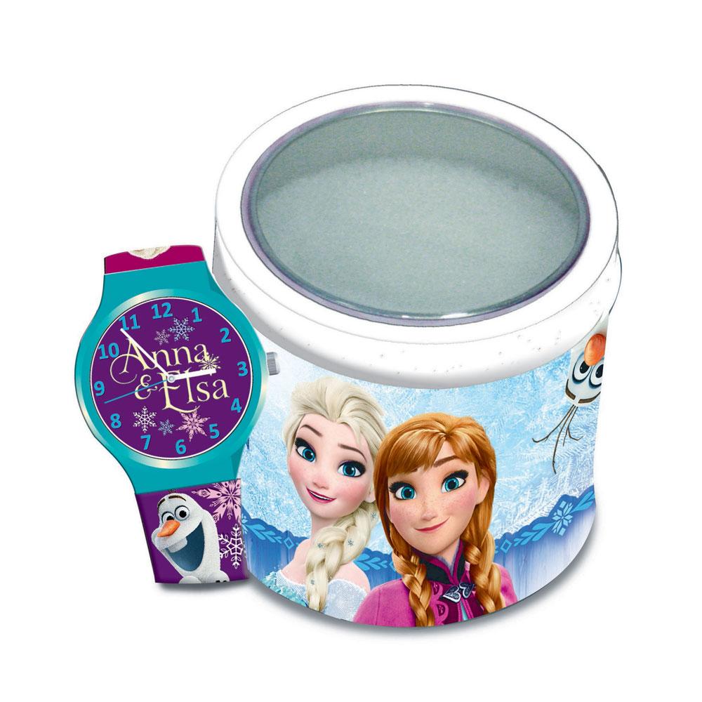 Ceas Frozen in cutie metalica