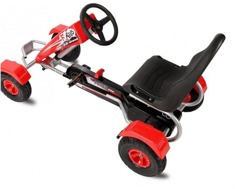 Kart cu pedale pentru copii Full Ahead Red