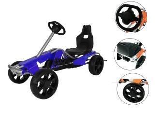 Kart cu pedale pentru copii Go Kart Wind Blue imagine