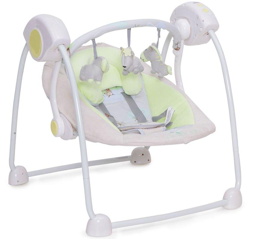 Leagan Baby Swing cu conectare la priza Green