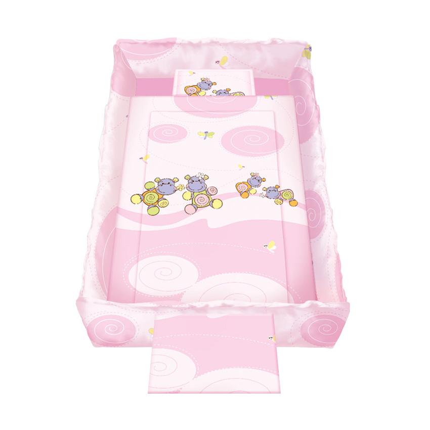 Lenjerie De Pat 8 Piese Trend Hippo Pink
