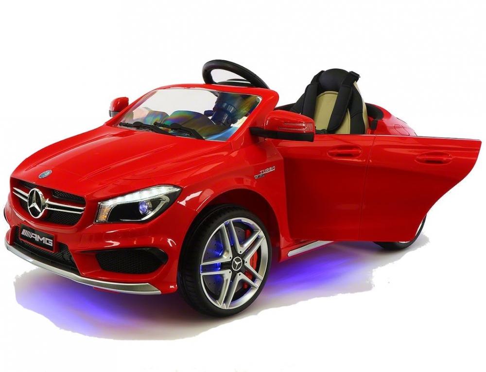 Masinuta electrica cu telecomanda si roti eva Mercedes CLA45 12V Rosie