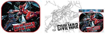Parasolar auto Set 2 buc Set Captain America cu poster de colorat