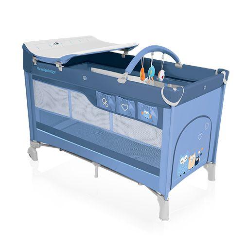 Patut Pliabil Cu Doua Nivele Baby Design Dream 2016 Blue