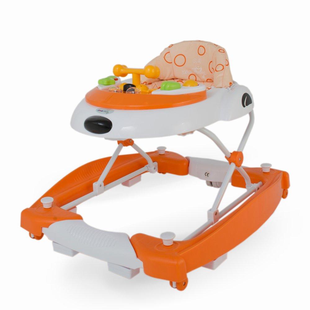 Premergator 2 in 1 cu balansoar Swing Portocaliu imagine