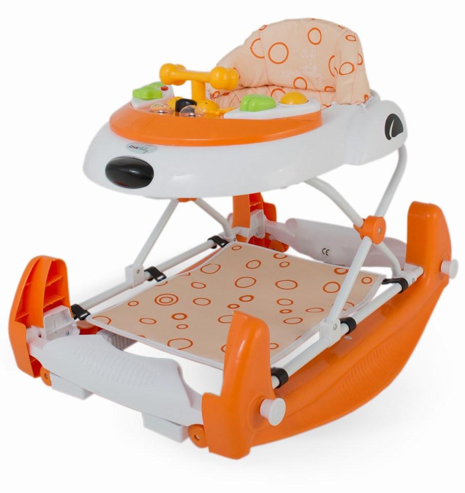 Premergator 2 in 1 cu balansoar Swing Portocaliu