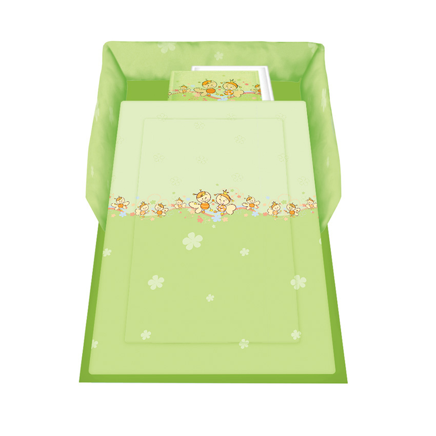Set Lenjerie Pat 5 Piese Bees Green