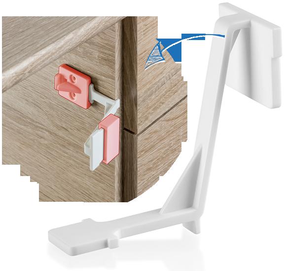 Siguranta pentru sertare si usi de dulapuri REER 71010 imagine