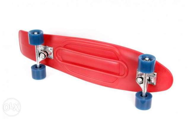 Skateboard Maxtar Lightning rosu 71 x 20 cm