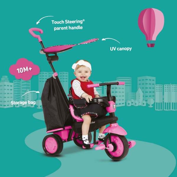 Tricicleta Smart Trike Delight 3 in 1 Pink