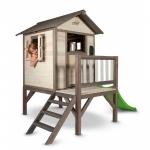 Casuta din lemn pentru copii Lodge XL gri/alb