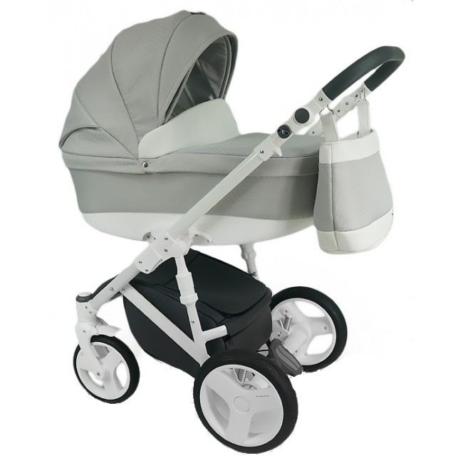 Carucior copii 3 in 1 Bexa DAngela Light Grey