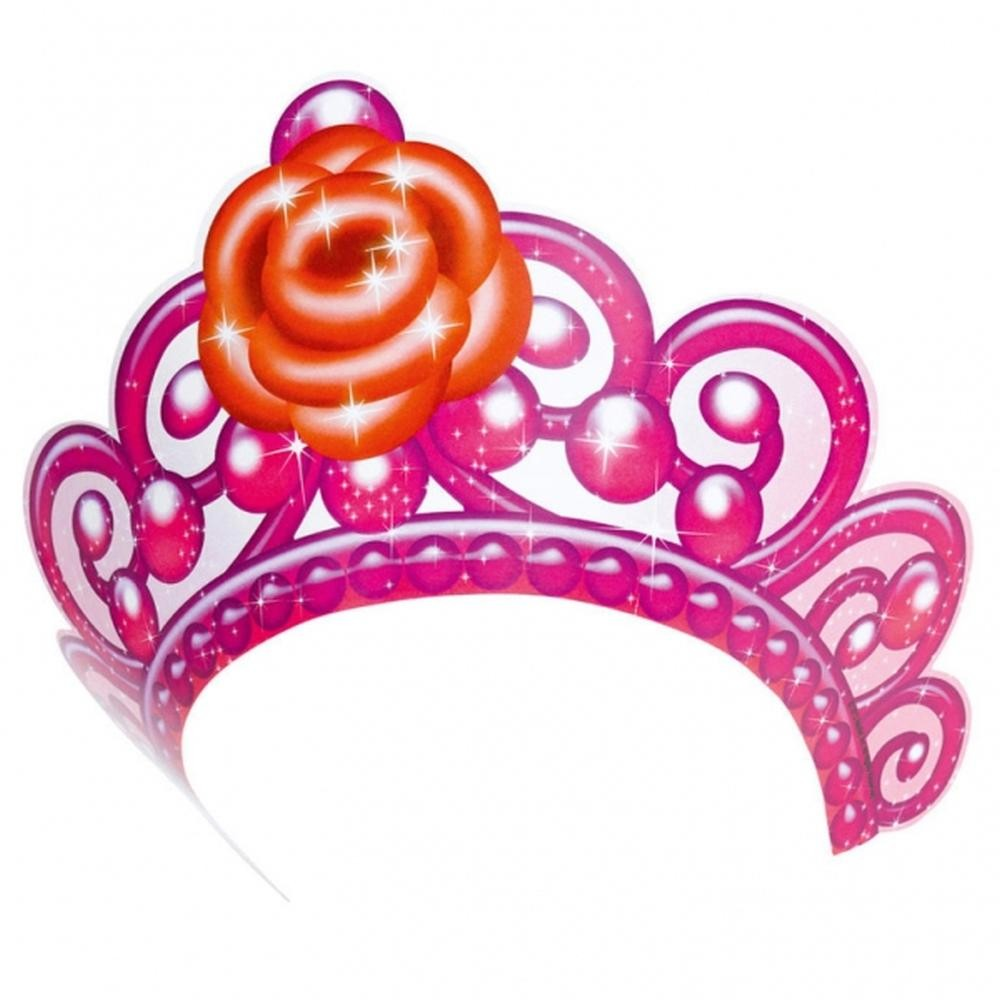 Coronita de printesa cu Barbie Pink Shoes, Amscan RM250158, Set 6 buc