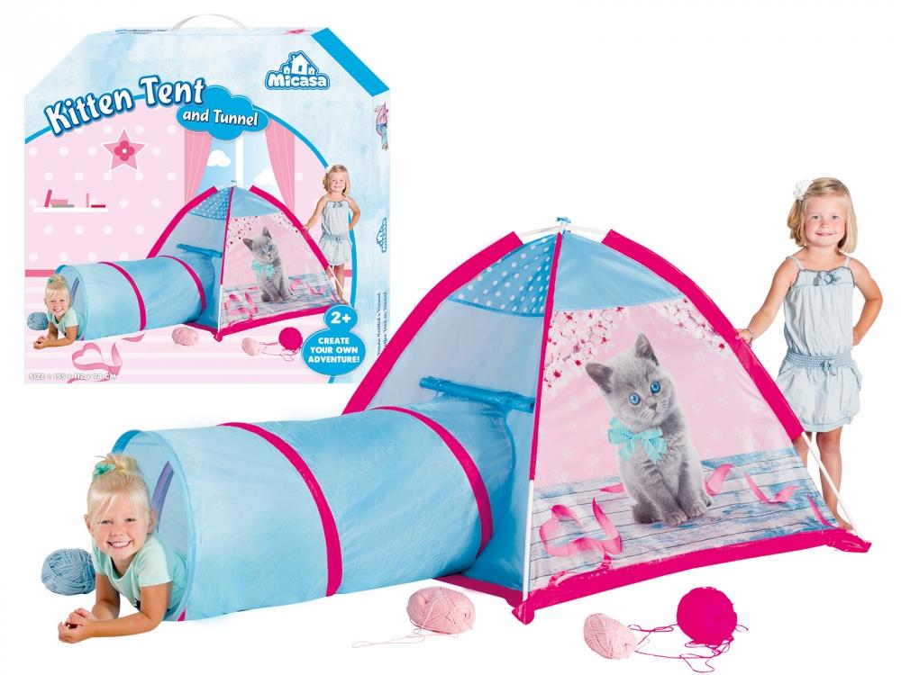 Cort de joaca cu tunel - Pisicuta
