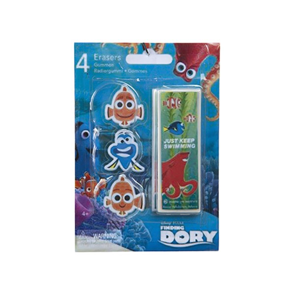 Set de 4 radiere Finding Dory
