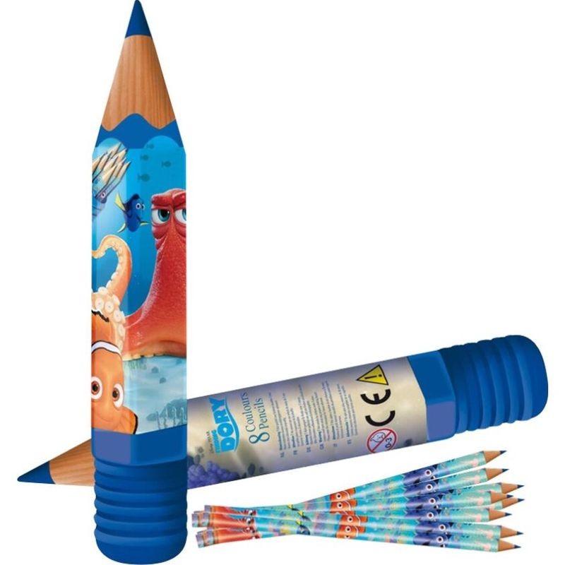 Tub cu 8 creioane colorate Finding Dory