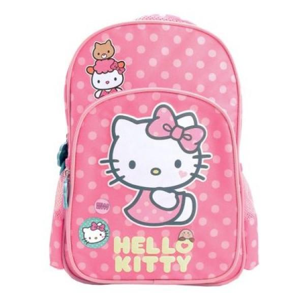 Ghiozdan Clasa 0 Hello Kitty roz deschis Pigna si minge cadou