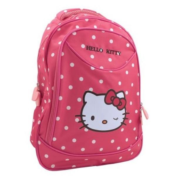 Ghiozdan clasa 0 Hello Kitty roz inchis Pigna si minge cadou