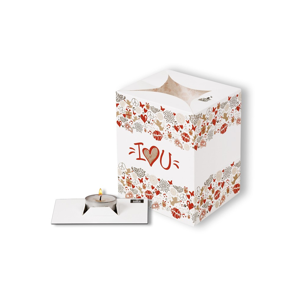 Lampion decorativ - I love you, Radar 5406, 1 bucata