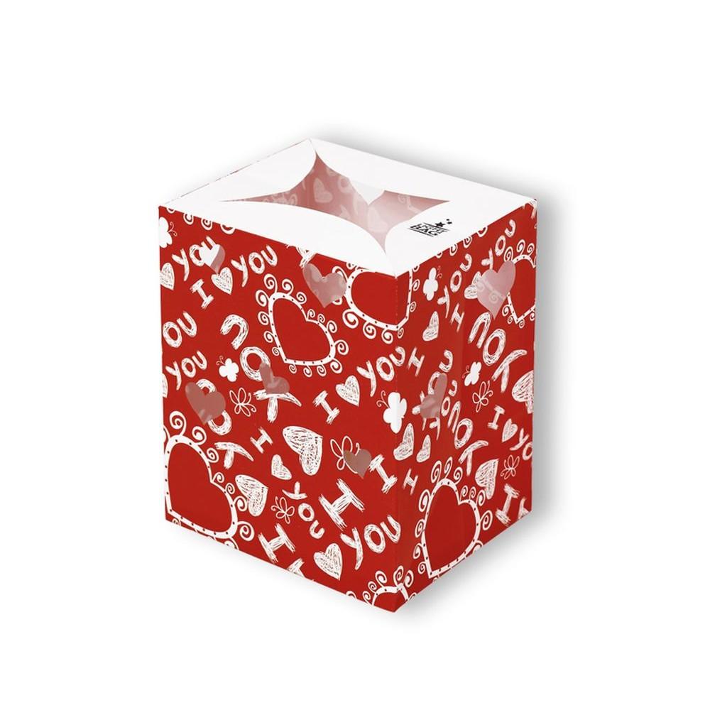 Lampion decorativ cu inimioare - I love You, Radar 5437, 1 bucata