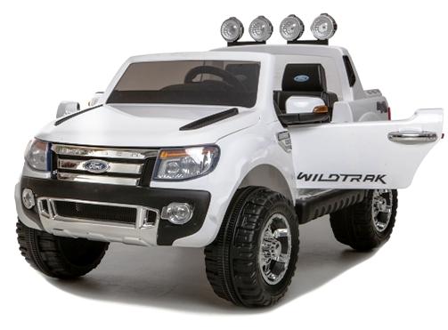 Masinuta electrica cu roti eva si telecomanda Ford Ranger White