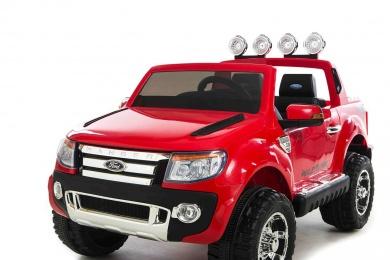 Masinuta electrica cu roti eva si telecomanda Ford Ranger Red imagine