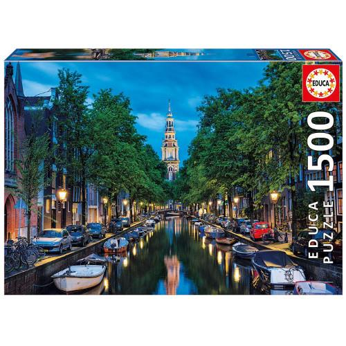 Puzzle 1500 Piese Amurg in Amsterdam