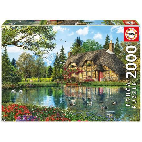 Puzzle 2000 Piese Cabana de pe Lac