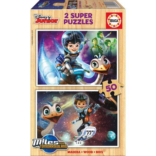 Puzzle din Lemn Miles From Tomorrowland 2x50 piese