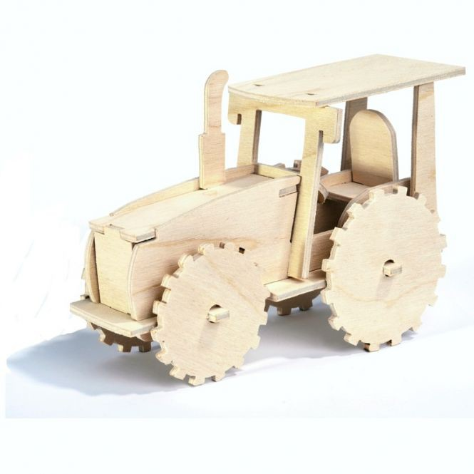 Puzzle tractor 3D