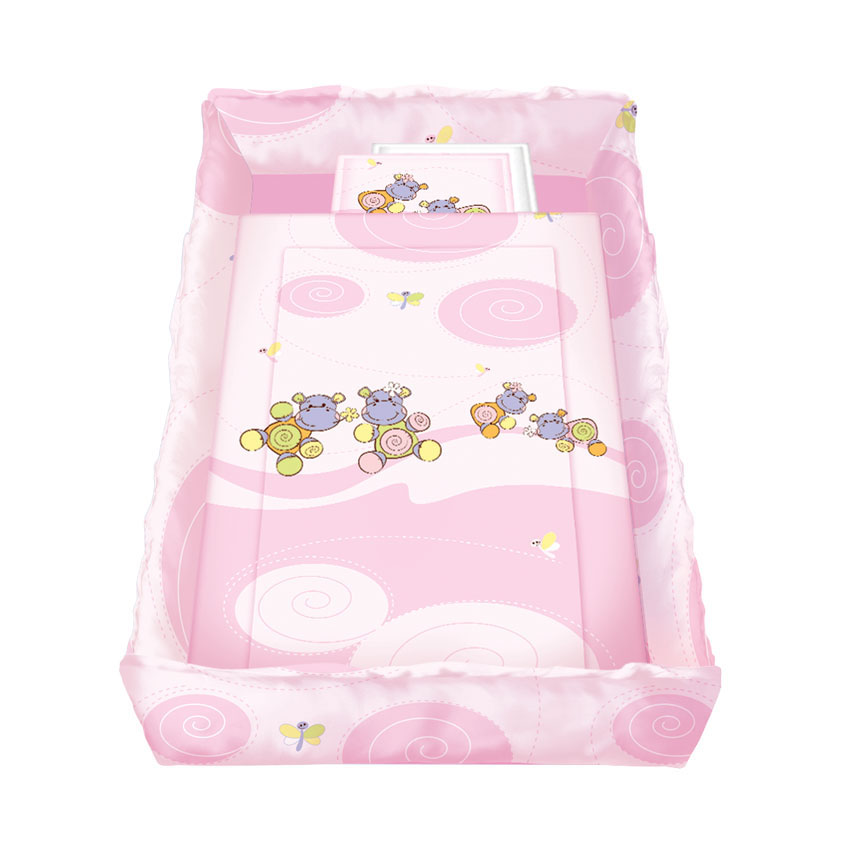 Set lenjerie pat 8 piese HIPPO Pink