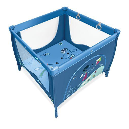 Tarc de joaca Baby Design Play UP Blue cu inele ajutatoare 2016