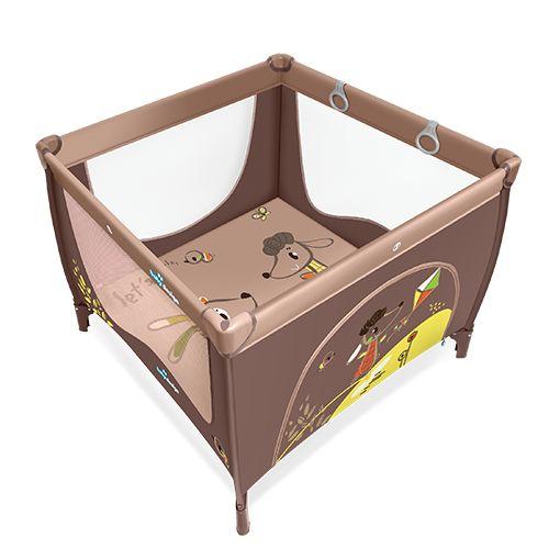 Tarc de joaca Baby Design Play UP Brown cu inele ajutatoare 2016