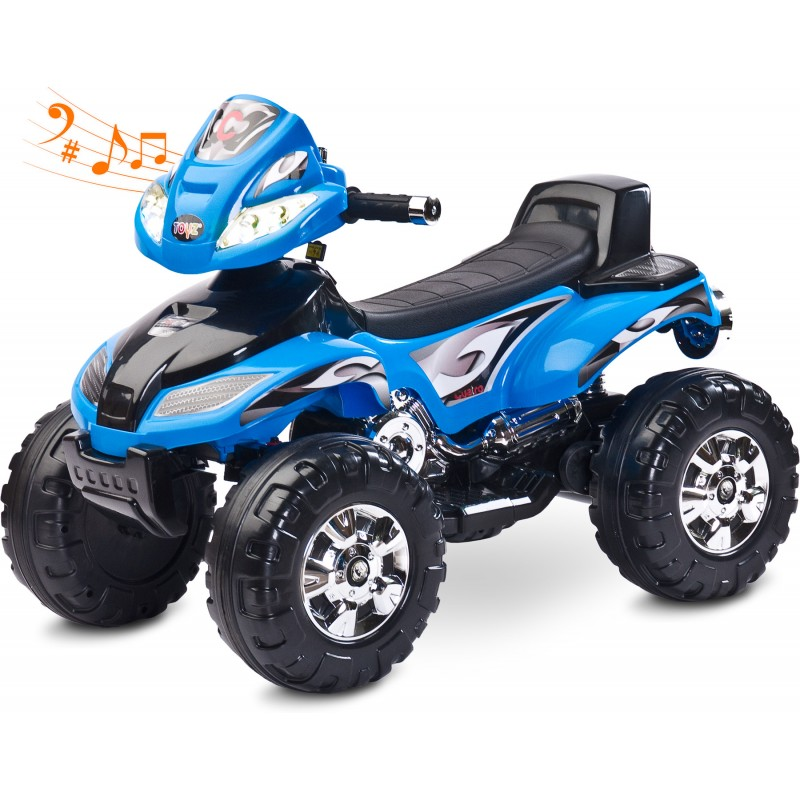 ATV Electric Toyz Quad Cuatro 6V Blue din categoria La Plimbare de la Toyz by Caretero