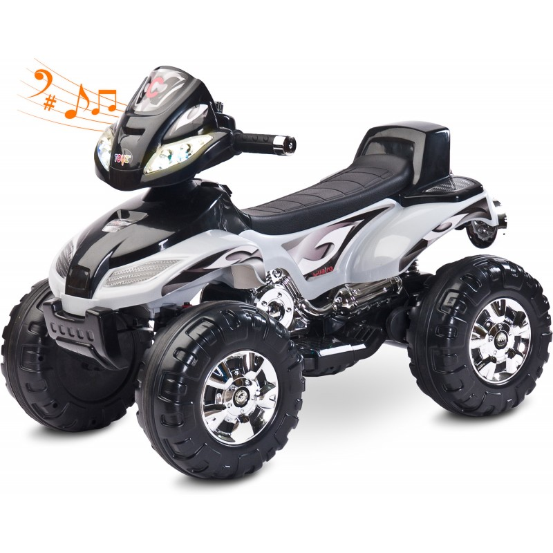 ATV Electric Toyz Quad Cuatro 6V Grey din categoria La Plimbare de la Toyz by Caretero