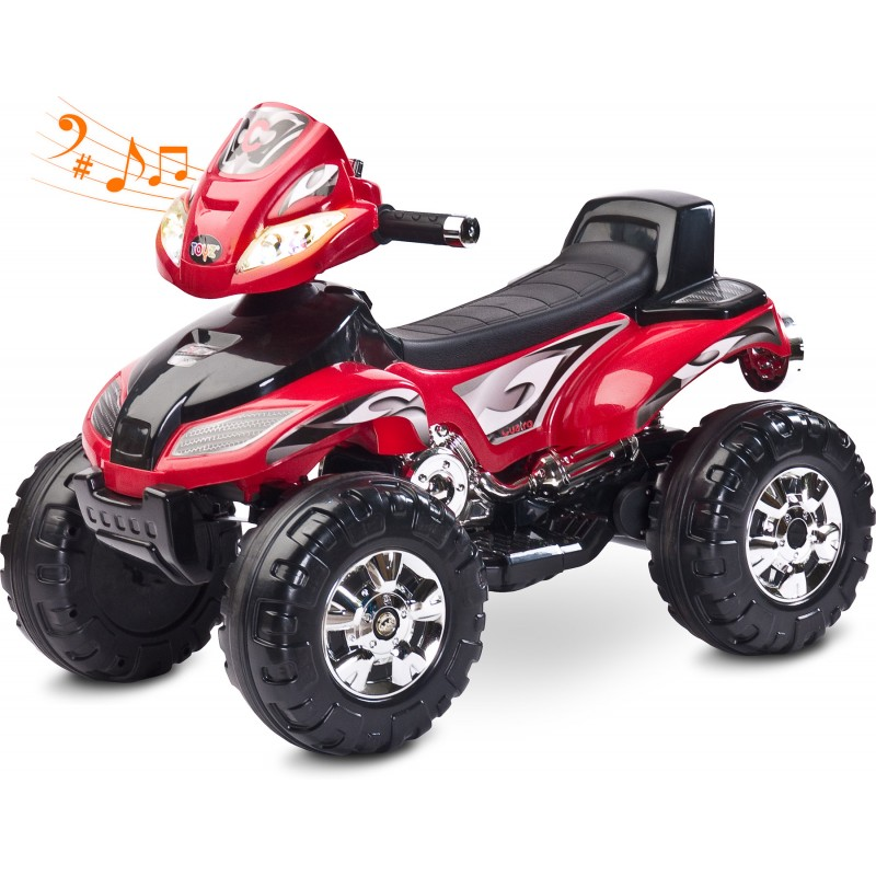 ATV Electric Toyz Quad Cuatro 6V Red din categoria La Plimbare de la Toyz by Caretero