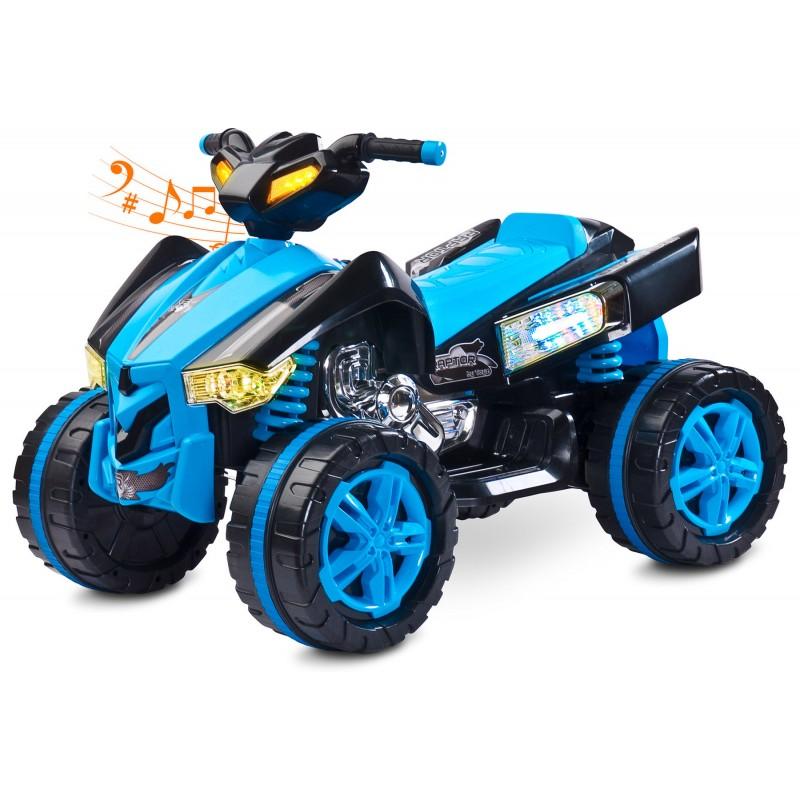 Atv Electric Toyz Raptor 2x6v Blue