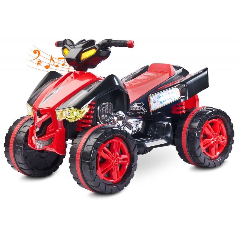 Atv Electric Toyz Raptor 2x6v Red