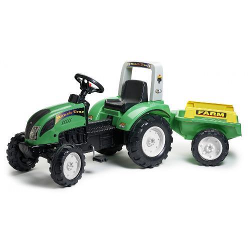 Tractor Ranch Farm Verde cu Remorca