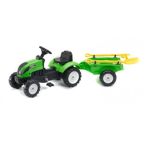 Tractor cu Remorca Garden Master si Unelte Green imagine