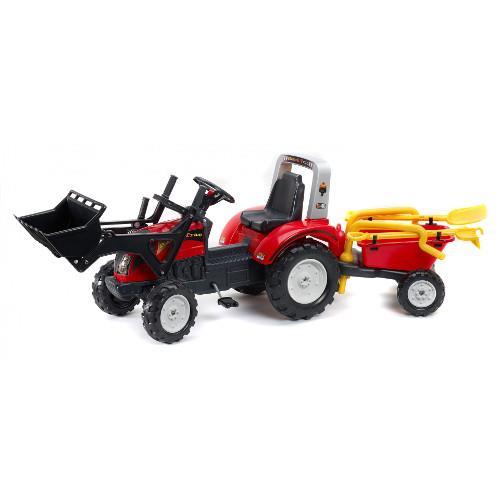 Tractor cu Remorca Ranch Trac Rosu imagine