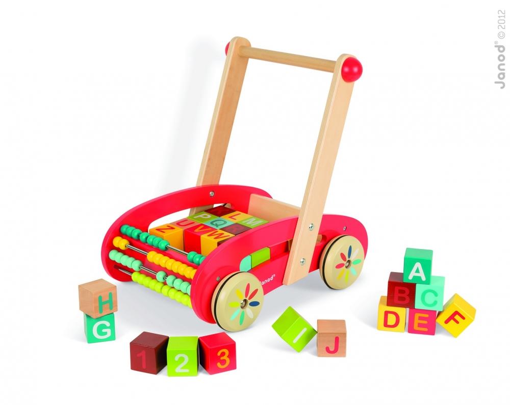 Vehicul de impins - Tatoo (30 cuburi)  - J05379