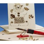Aparat pirogravura in cutie de lemn