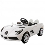 Masinuta electrica Mercedes McLaren Limited Edition White roti din cauciuc si telecomanda
