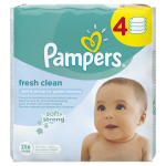 Servetele umede Pampers Fresh Clean Baby 4 pachete 256 buc