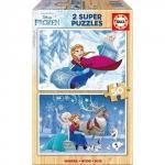 Super Puzzle din Lemn Frozen 2 x 50 piese