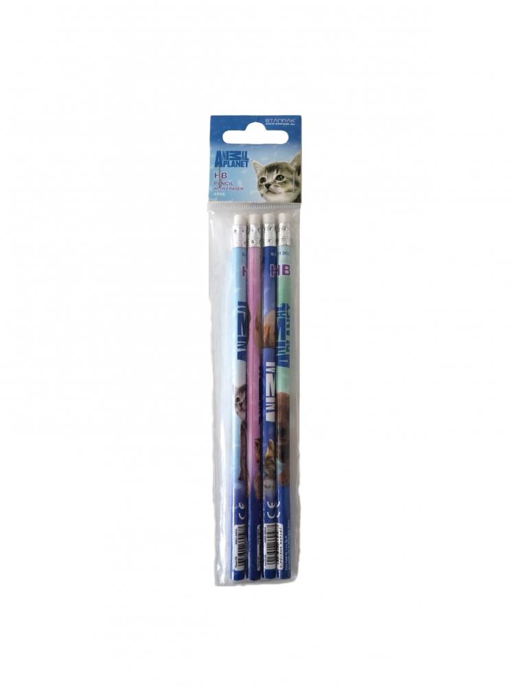 AP Cute Set de 4 creioane cu radiera